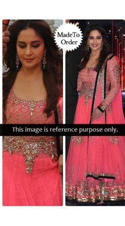 SE513502 Madhuri Dixit Pink Unstitched Suit