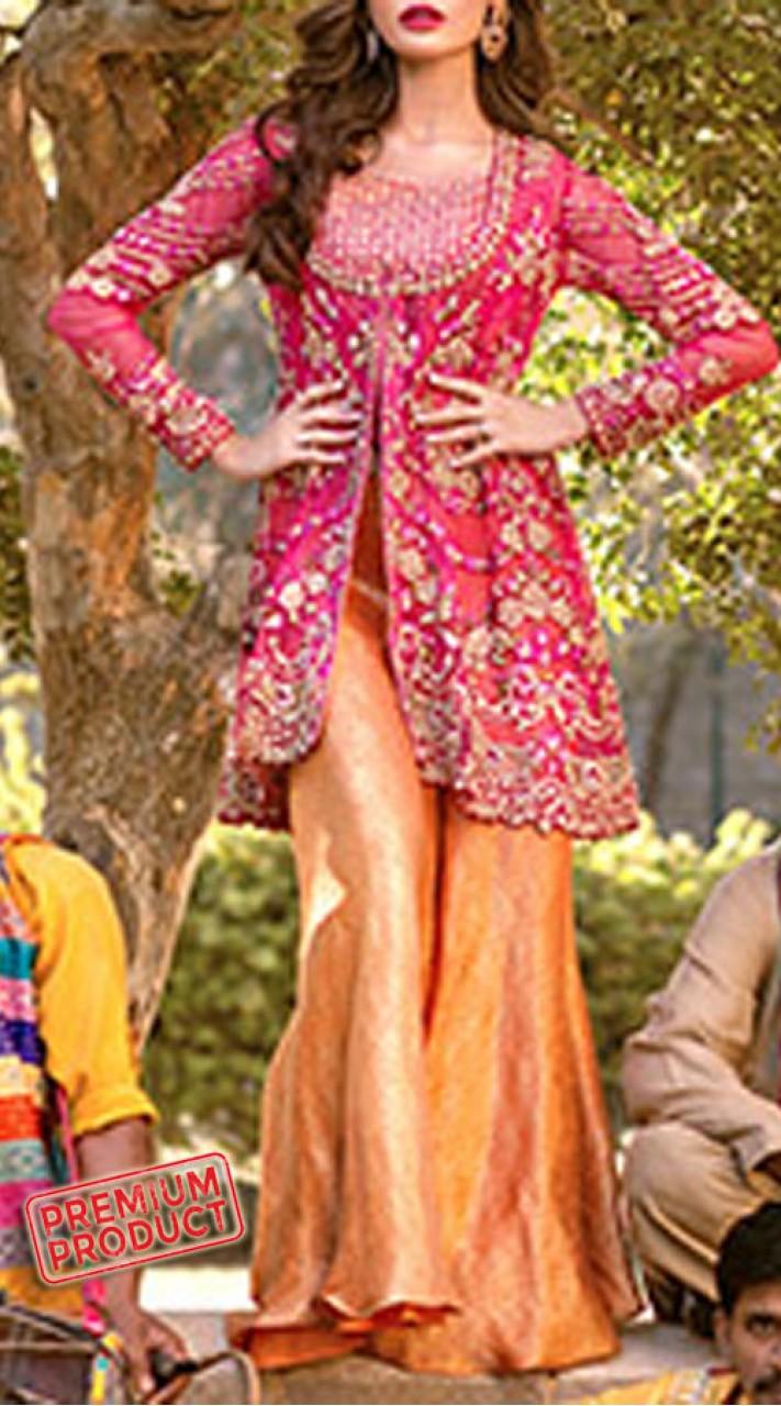 Designer palazzo pants with kameez