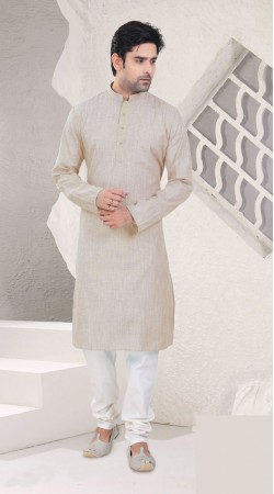 Magnificent Cotton Off White Festival Wear Mens Kurta Pajama SI0542