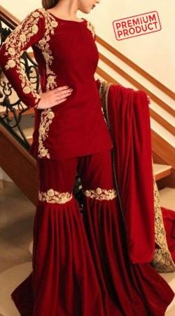 Maroon Georgette Party Wear Sharara BP2345