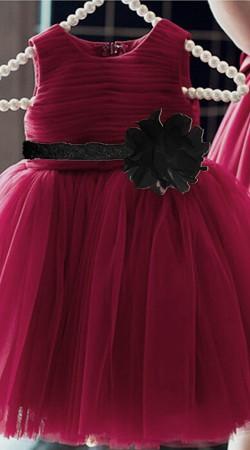 Maroon Net Beautiful Tutu Dress For Baby Girl BP1253