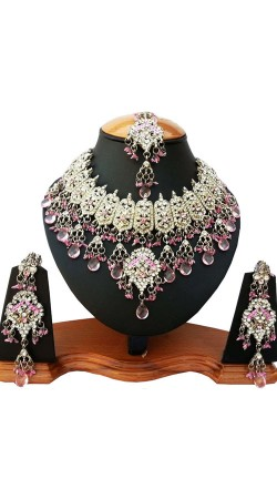 Modernistic Necklace Set With Maang Tika NNP81906