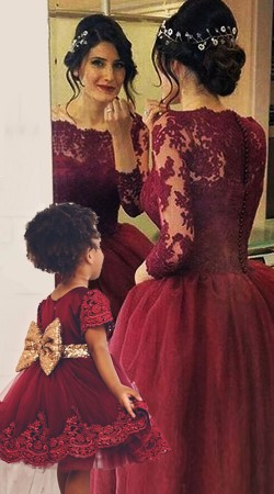 Mom And Me Matching Ball Gown For Party BP2352