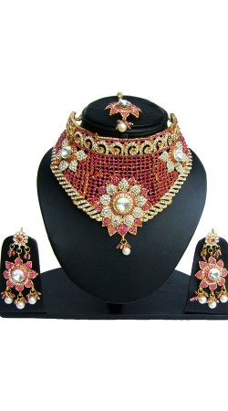 Multicolor Designer Necklace Set With Maang Tika NNP82306