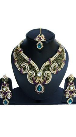 Multicolor Stones Work Designer Necklace Set NNP74102