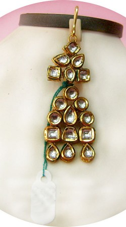 N004996 Charming Gold Kundan Jhoomer