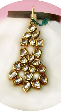 N005096 Beautiful Gold Kundan Jhoomer