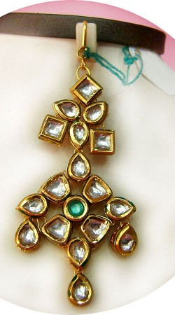 N005196 Lovely Gold Kundan Jhoomer