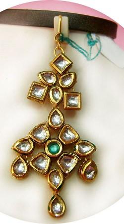 N005196 Lovely Gold Kundan Jhoomer