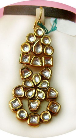 N005296 Attractive Gold Kundan Jhoomer