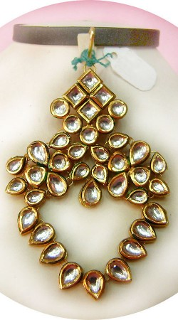 N005396 Exclusive Gold Kundan Jhoomer