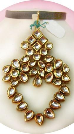 N005396 Exclusive Gold Kundan Jhoomer