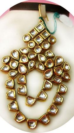 N005496 Classy Gold Kundan Jhoomer