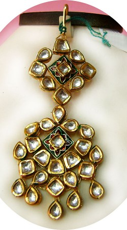 N005896 Beautiful Gold Kundan Jhoomer