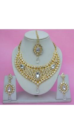 N08595 Drop Shape Necklace Set with Tika