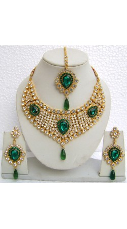 N08795 Drop Shape Necklace Set with Tika