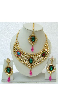 N08995 Drop Shape Necklace Set with Tika
