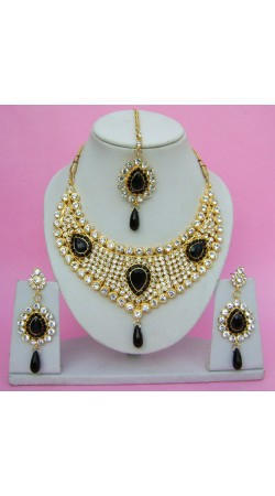 N09095 Drop Shape Necklace Set with Tika