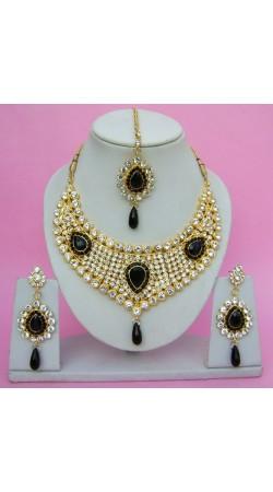 N09095 Drop Shape Necklace Set with Tika