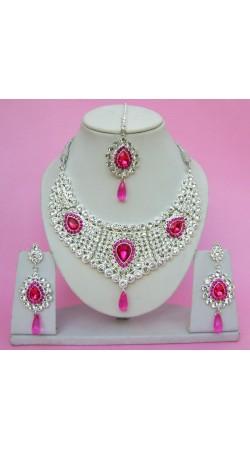 N09295 Drop Shape Necklace Set with Tika
