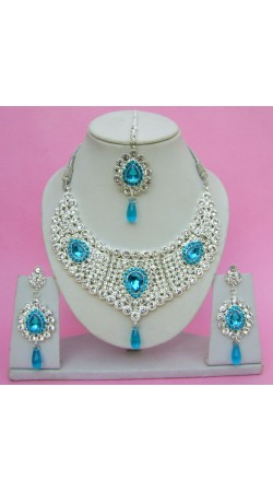 N09395 Drop Shape Necklace Set with Tika