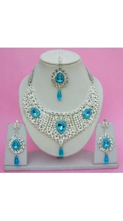 N09395 Drop Shape Necklace Set with Tika