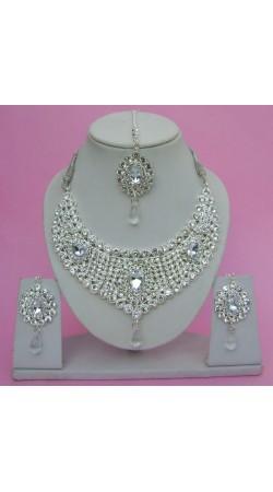 N09495 Drop Shape Necklace Set with Tika