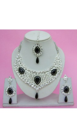 N09795 Drop Shape Necklace Set with Tika