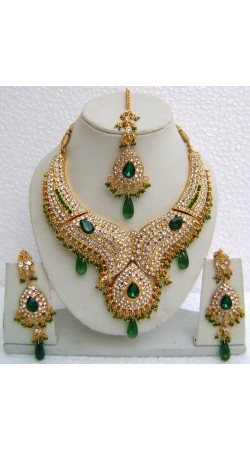 N10895 Designer Artificial Jewellery Necklace Set with Tika