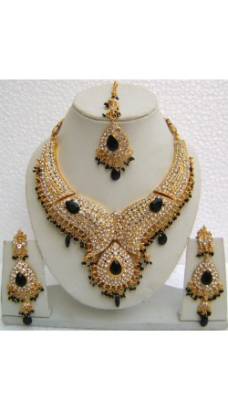 N10995 Designer Artificial Jewellery Necklace Set with Tika