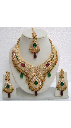N11295 Designer Artificial Jewellery Necklace Set with Tika