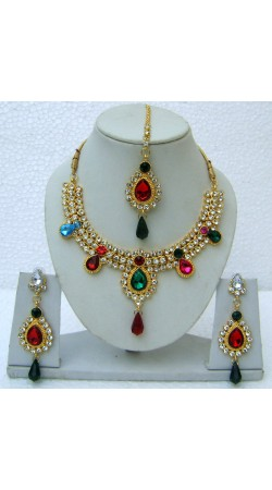 N11495 Necklace Set with Tika Necklace Set with Tika