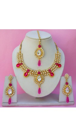 N11595 Necklace Set with Tika Necklace Set with Tika