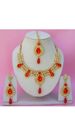 N11995 Necklace Set with Tika Necklace Set with Tika
