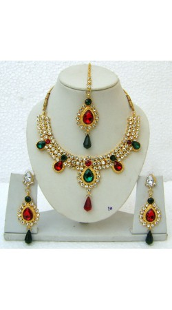 N12095 Necklace Set with Tika Necklace Set with Tika