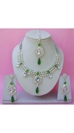 N12195 Necklace Set with Tika Necklace Set with Tika