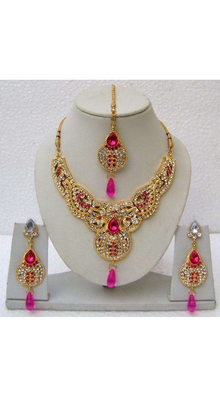 N14395 Designer Artificial Jewellery Necklace Set Tika
