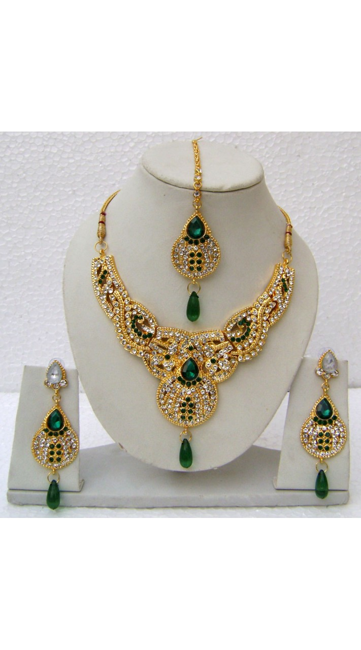N14595 Designer Artificial Jewellery Necklace Set Tika