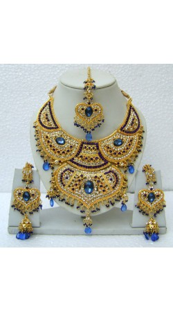 N15195 Double Pendant Necklace Set with Tika