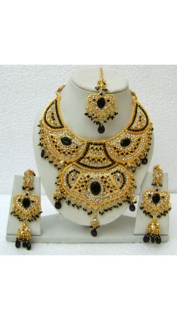 N15395 Double Pendant Necklace Set with Tika