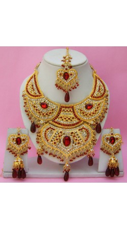 N16295 Double Pendant Necklace Set with Tika