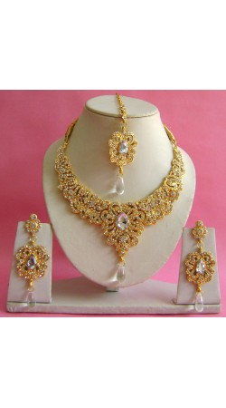 N16595 Necklace Set with Tika Necklace Set with Tika
