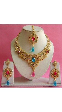 N16695 Necklace Set with Tika Necklace Set with Tika