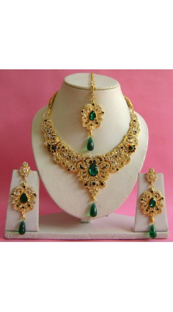 N16895 Necklace Set with Tika Necklace Set with Tika