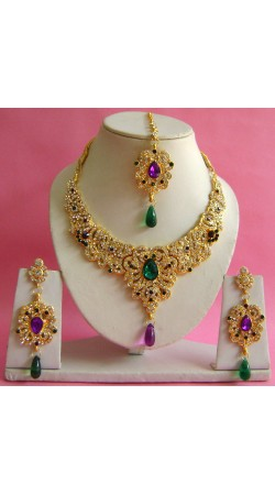N17095 Necklace Set with Tika Necklace Set with Tika
