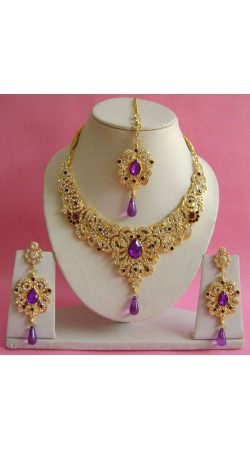 N17195 Necklace Set with Tika Necklace Set with Tika