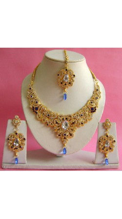 N17395 Necklace Set with Tika Necklace Set with Tika