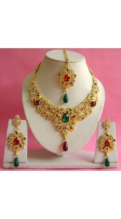 N17595 Necklace Set with Tika Necklace Set with Tika