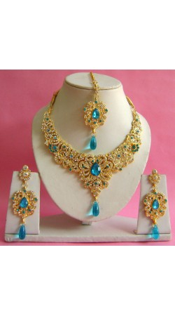 N17695 Necklace Set with Tika Necklace Set with Tika