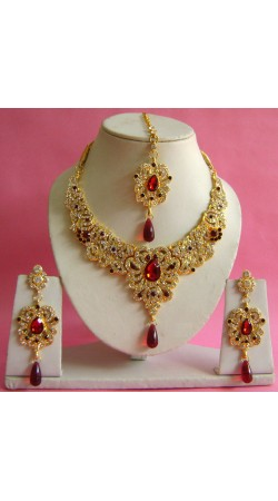N17795 Necklace Set with Tika Necklace Set with Tika
